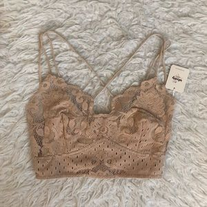 NWT Free People nude cream Strappy bralette